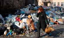 Naples rubbisg crisis