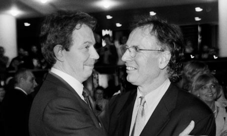 philip Gould And tony Blair Celebrate