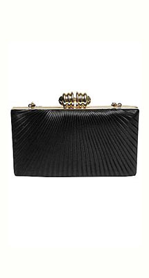 Alexon black and gold clutch, £45
