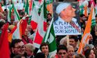 Silvio Berlusconi protest