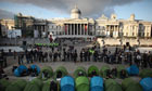 Student tuition fees protesters, Trafalgar Square camp