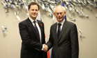 Nick Clegg and Herman Van Rompuy meeting at the European Council, Brussels, Belgium - 09 Nov 2011