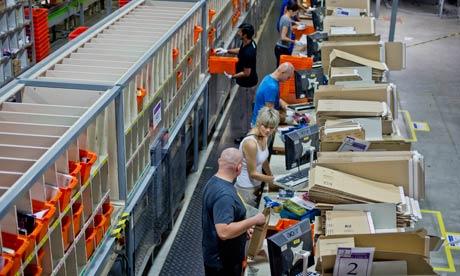 Staff at Amazon's Marston Gate warehouse.