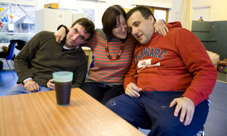 Louisa Spivack and her autistic sons Joel and Danny