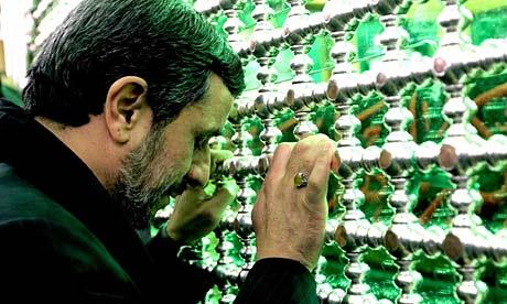 Ahmadinejad was on a visit to Sari