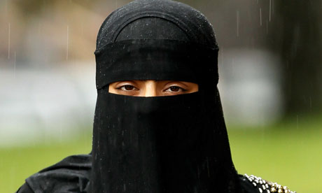 a woman wearing the niqab