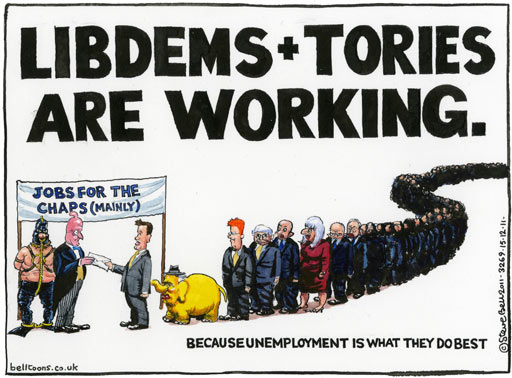 15.12.11 Steve Bell on rising tensions in the coalition