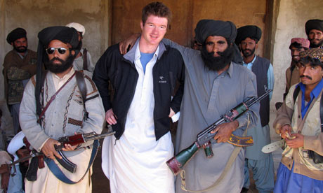 Declan Walsh with Bugti tribesmen in Pakistan