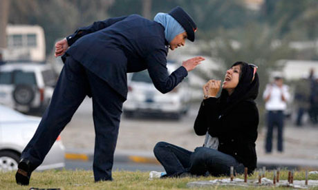 The arrest of Bahraini blogger Zainab Alkhawaja in the capital, Manama