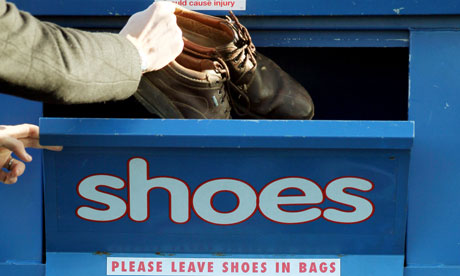 Variety Club earns less than   4.50 a year from each shoe recycling bank | Society | The Guardian