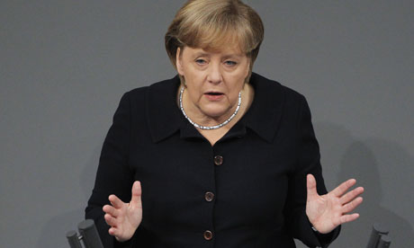 Angela Merkel gives a government declaration
