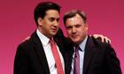 Ed Miliband and Ed Balls hugging
