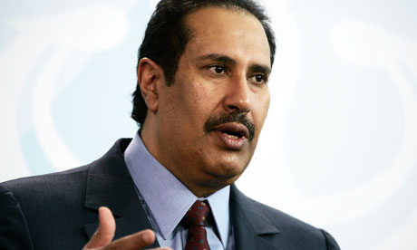 Syria given 24 hours to sign Arab League deal or face sanctions Sheikh Hamad bin Jassim b 007