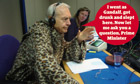 John Humphrys wearing The Slanket of Con