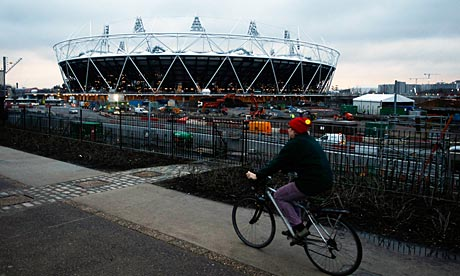 The site of the main stadium for the 2012 London Olympics, in Stratford.