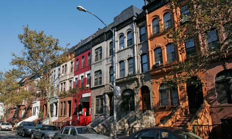 Harlem Brownstones Manhattan New York