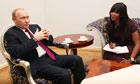 Vladimir Putin and Naomi Campbell