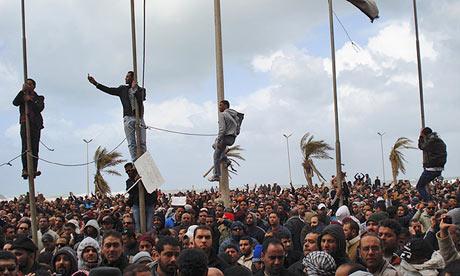 Protestors in Libya