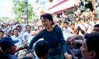 Aung San Suu Kyi in Yangon, Burma, November 2010