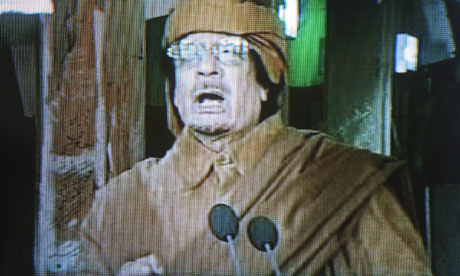 Gaddafi says he will not step down
