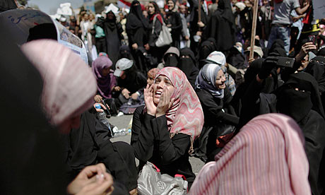 Protester in Sana'a