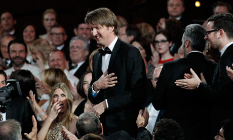 Tom Hooper at the Oscars ceremony