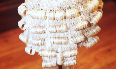 Wig worn by high court judge