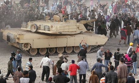 Egyptian army tank in Tahrir Square