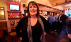 Karen Murphy, landlady of the Red, White and Blue pub, Portsmouth