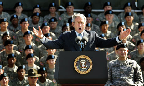 Former President Bush admitted to using torture techniques in his book Decision Points.  Photo courtesy of The Guardian.