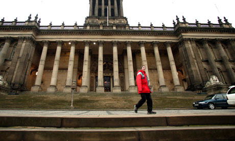 Leeds town hall found itself at the centre of cuts protests