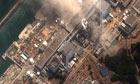 The damaged Fukushima Daiichi nuclear plant in Okuma, Fukushima Prefecture, Japan.