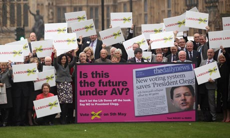 Labour launch No to AV campaign