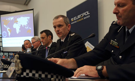 Press conference on paedophile network