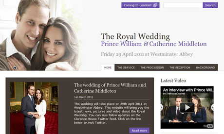 royal wedding pictures. Royal wedding website