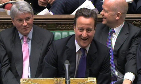 David Cameron deploys a soundbite at prime minister's questions.
