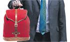 Osborne with backpack