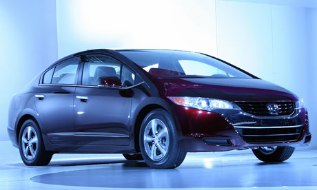 The Honda FCX Clarity hydrogen-powered car