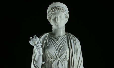 A Roman sculpture of the empress Domitia is among the antiquities going on display.