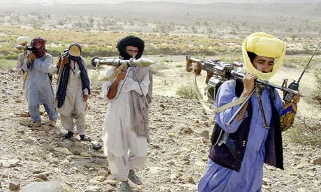Well-armed Baloch insurgents in the contested region south of the capital Quetta. Photograph: Banaras Khan/AFP