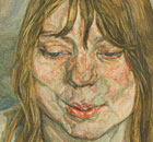 "Lucian Freud, ""Woman Smiling"" 1958-59"