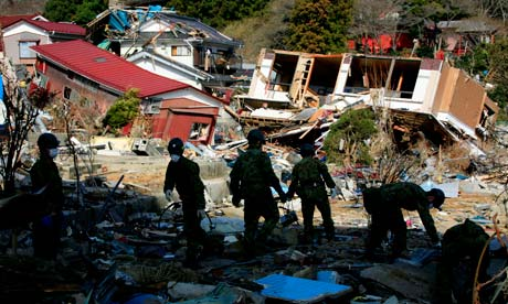 Japan tsunami victims search