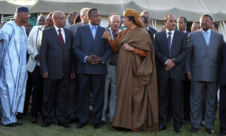 African Union meets Gaddafi