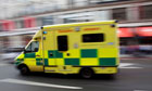 An ambulance in London where 560 frontline jobs are to go