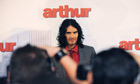 Russel Brand attends the premiere of Arthur in Sydney