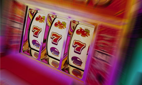 Slot Machine Hitting the Jackpot