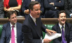 David Cameron speaks during prime minister's questions in the House of Commons.