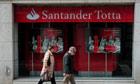 Santander bank in Lisbon, Portugal