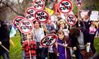 Protestors in Hyde Park