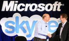 Microsoft CEO Steve Ballmer and Skype CEO Tony Bates